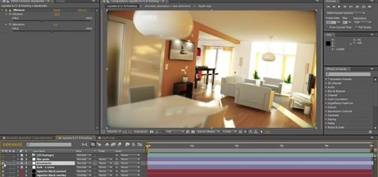 How to Give your architectural renderings a film look in
