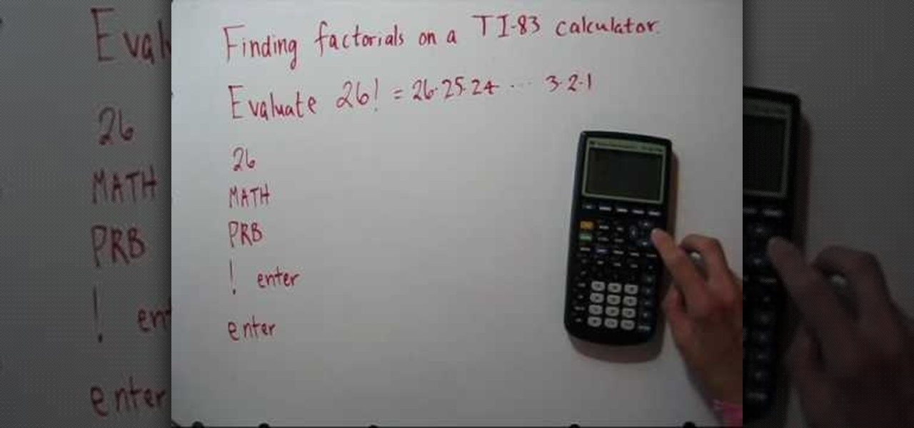 How to evaluate factorials with a ti 83 calculator math how to evaluate factorials with a ti 83 calculator math wonderhowto ccuart Choice Image