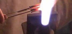 Make a glass lattachino tobacco pipe