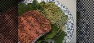 Make salmon with pesto sauce