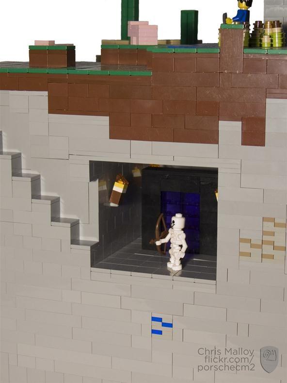 Crafting Blocks into Bricks: A Minecraft LEGO Diorama