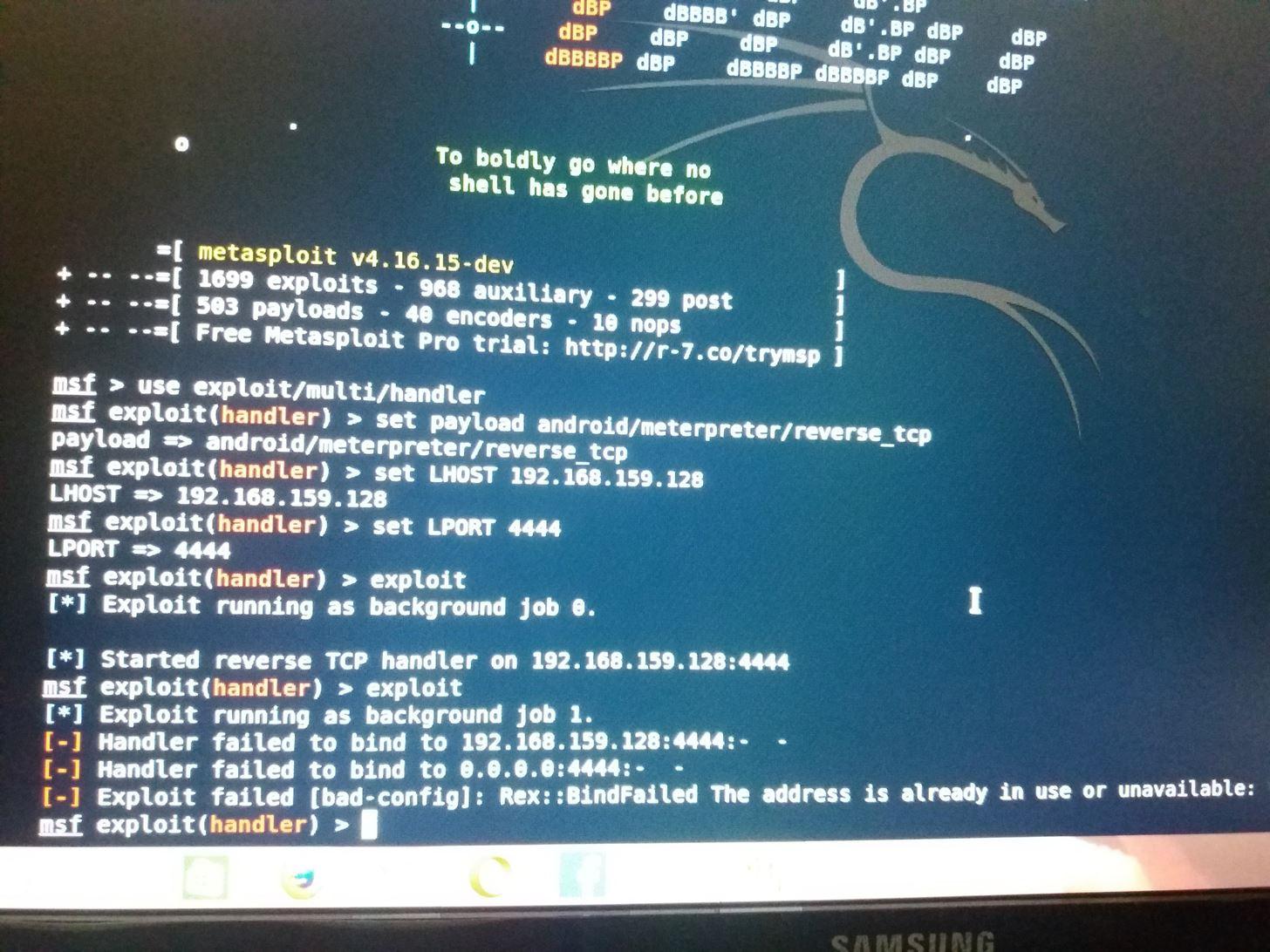 Metasploit Error: Handler Failed to Bind « Null Byte :: WonderHowTo