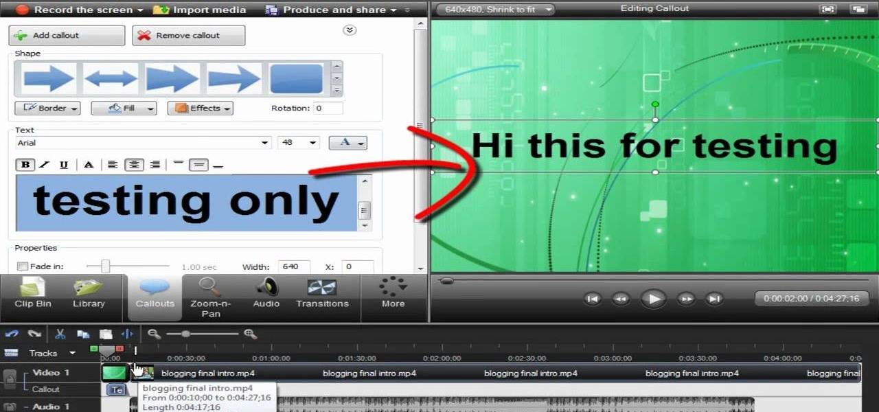 How to reduce camtasia flash video file sizes camtasia studio how to add title clips from the library feature in camtasia 7 ccuart Image collections