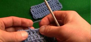 Cast off loose crochet ends for right handers