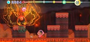 Defeat Hot Wings, the final boss in Hot Land on Kirby's Epic Yarn