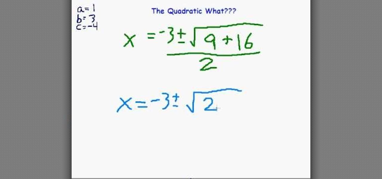 Factoring how to homework help quadratic formula