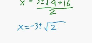 Solve quadratic equations with the quadratic formula