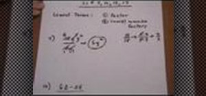 Put rational expressions in lowest terms