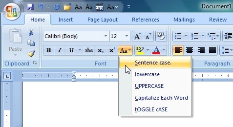 how to make small caps in word for mac