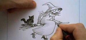 Draw a Halloween witch