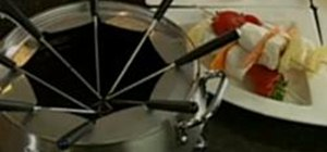 Make Chocolate Bourbon Fondue with Hubert Keller