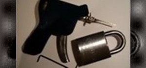 Pick locks with a lock pick gun