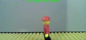Make a Lego man walking animation