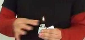Perform the Zippo lighter trick