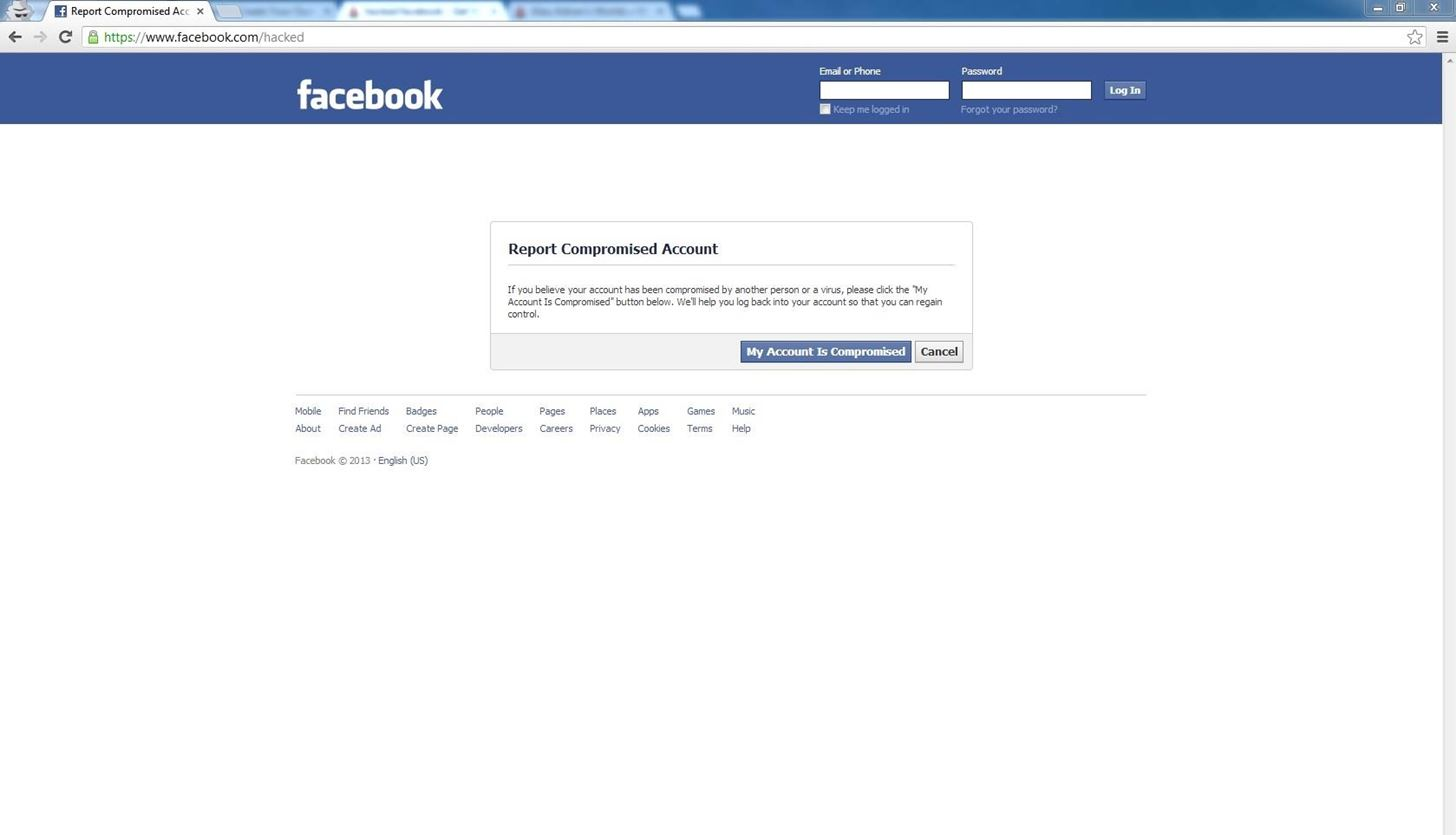 how to delete hacked facebook account
