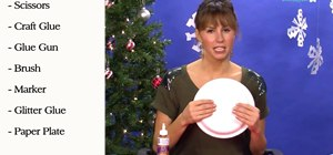 Create a Christmas angel tree topper with paper plates & glitter