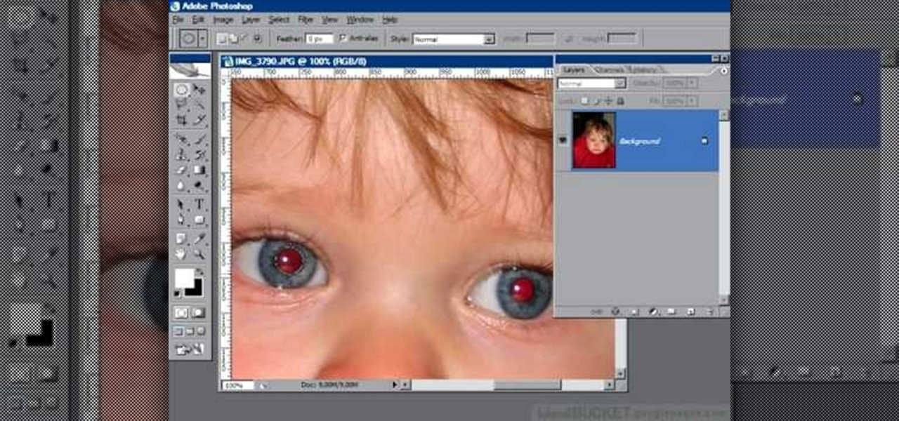 How to Remove Red Eye With The
