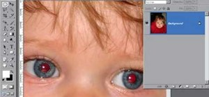 Remove red eye with the channel mixer in Photoshop