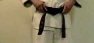 Properly tie a karate belt