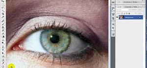 Manipulate eye color in Adobe Photoshop CS3 or CS4