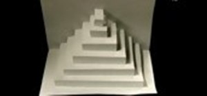 how to make a four sided pyramid out of paper