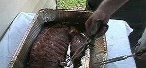 Smoke pork ribs Texas style
