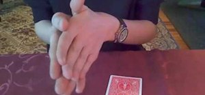 Perform a two-card monte trick with gimmick cards