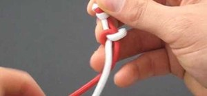Make a Chinese paracord snake knot