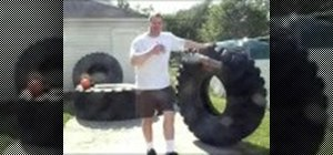 Practice correct tire flipping for Strongman training