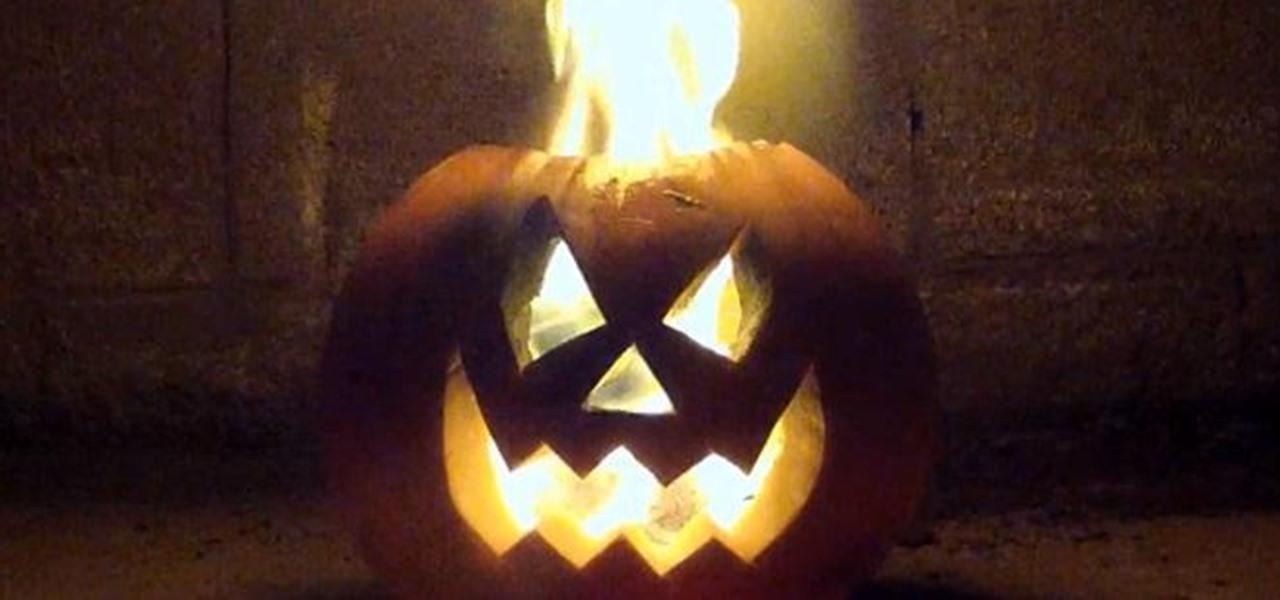 Make a Flaming Pumpkin