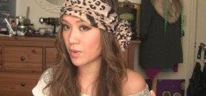 Tie a bohemian head scarf like Nicole Richie