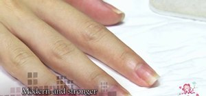 Shape your nails into a square shape with a nail file