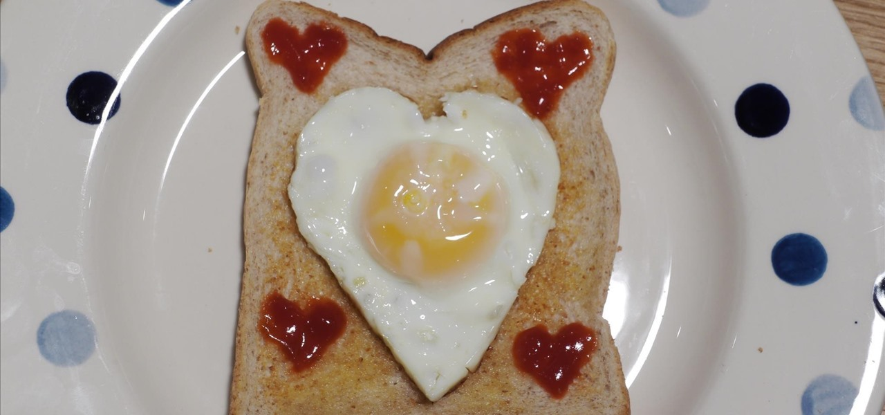 Make a Heart Fried Egg - Valentine's Day Breakfast