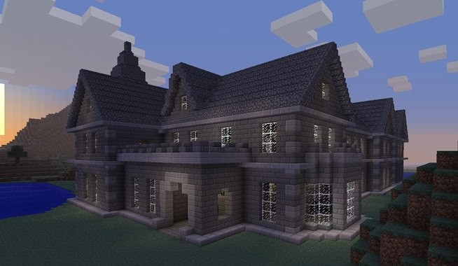 Our minecraft reproduction of the mount falcon manor house in ballina