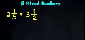 Multiply fractions with mixed numbers