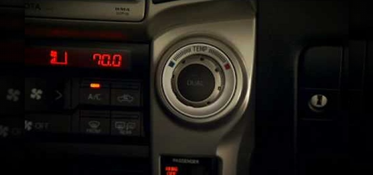 How To Use Auto Climate Controls On A 2010 Toyota 4runner