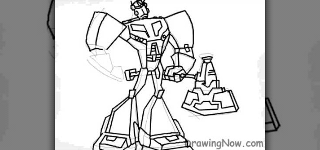 How To Draw Optimus Prime Of Transformers « Drawing