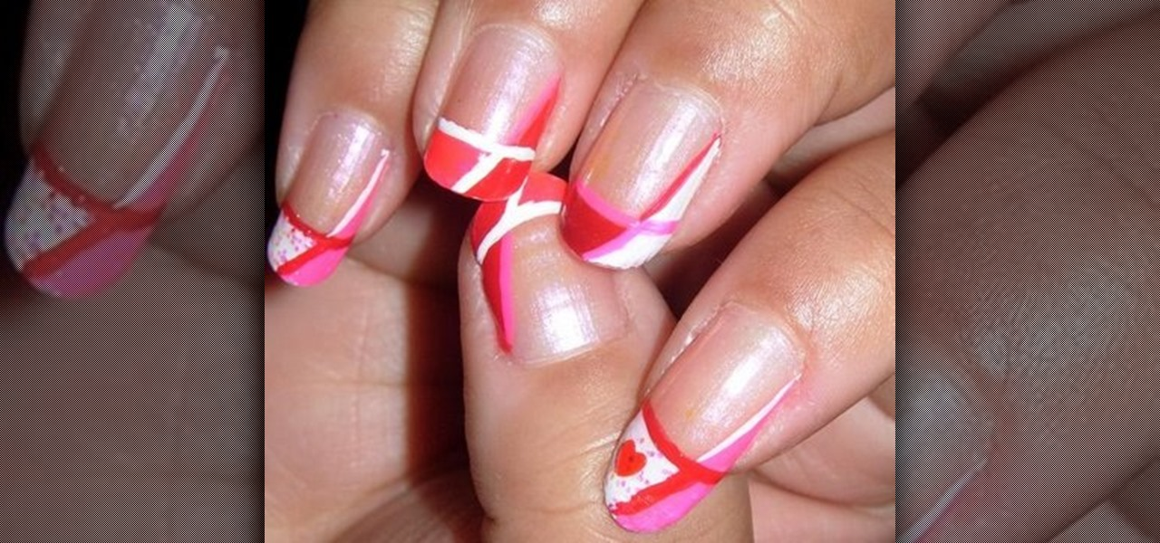How To Create Pink White And Red Valentineu0026#39;s Day Nail Art U00ab Nails U0026 Manicure  WonderHowTo