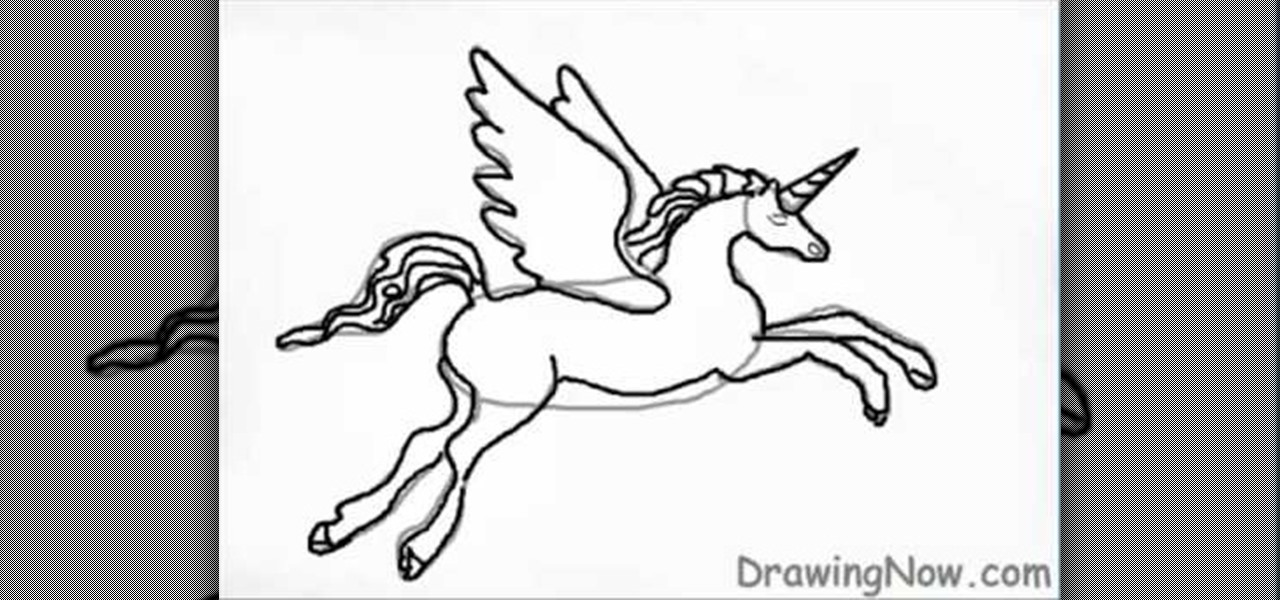 Fantasy Creature Drawings How to Draw a Fantasy Unicorn