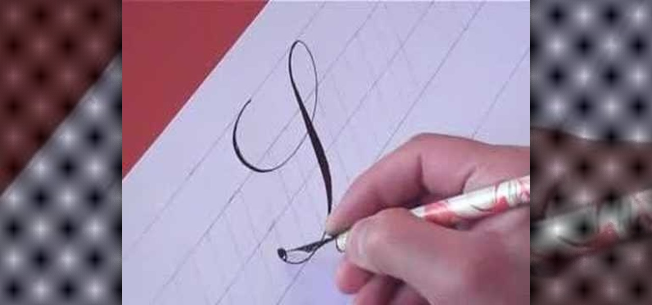 How To Write The Letter S In Calligraphy Copperplate