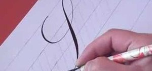 Write the letter S in calligraphy copperplate