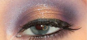 Use a Stila Jewel Palette to make a shimmery eye look