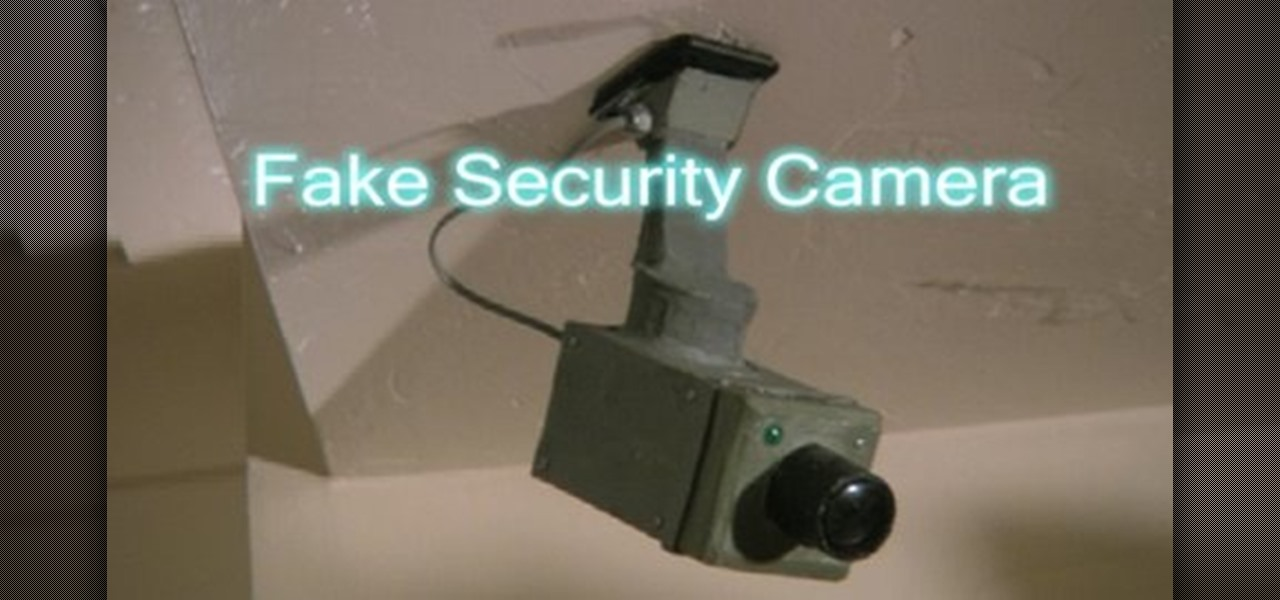 How to Build a fake cardboard security camera « Props ...