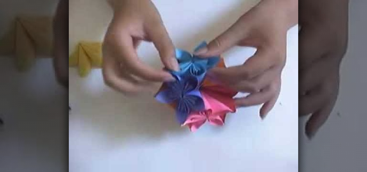 How to make a paper flower ball with origami papercraft wonderhowto mightylinksfo