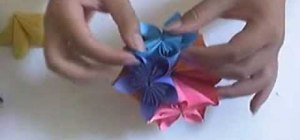 Make a paper flower ball with origami