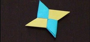 Mak an origami ninja star with two square papers