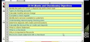 Work with bank checks in Microsoft Excel