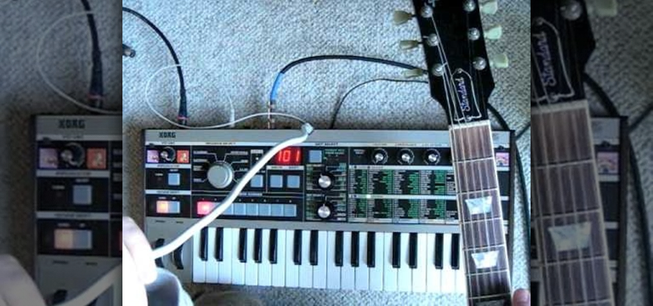 How to Use an electric guitar and a MicroKorg vocoder to