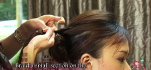 Create an avant garde F/W 2010 cinched back locks hairstyle