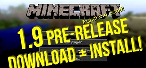 Download and install the Minecraft 1.9 pre-release on a Windows PC